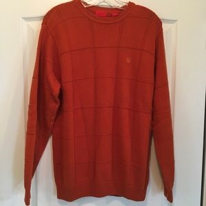 Men's Orange Izod sweater